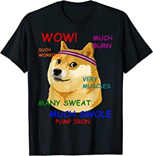 Very Fitness Doge T-Shirt Wow!