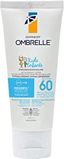 Garnier Ombrelle Kids Sunscreen Lotion, SPF 60, Hypoallergenic, Water & Sweat Resistant, Fragance Fee, 200mL