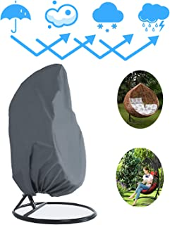 Patio Hanging Chair Cover, Outdoor Swinging Egg Chair Protector,78
