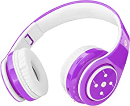 Kids Headphones Bluetooth Wireless On-Ear Foldable Stereo Sound Headset, Safey Volume..