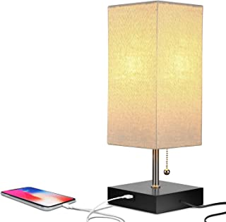 Brightech Grace LED USB Bedside Table & Desk Lamp – Modern Lamp with Soft, Ambient..