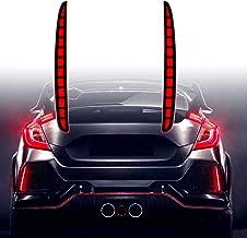 KE-KE Full LED Red Lens Bumper Reflector Lights for 2017 2018 2019 Honda Civic Hatchback Type-R 16-18 or SI 4-Door Sedan Tail Brake Rear Fog Lamps