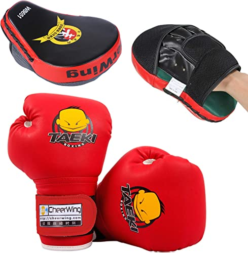 lowest Cheering Kids Boxing outlet sale Gloves and outlet online sale MMA Punching Mitts Focus Pads Red sale