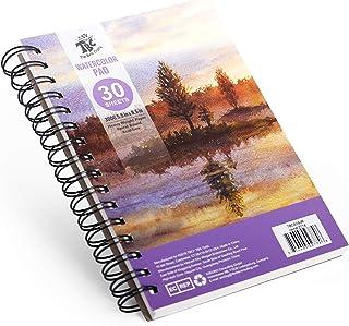 TBC The Best Crafts 30 feuilles de 15,5 x 20,5 cm pour aquarelles avec reliure à spirale, pour enfants, adultes et artistes