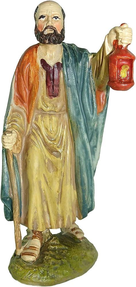 Ferrari & arrighetti statuina per presepe: pastore con lanterna linea martino landi 12 cm 2412NA18