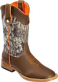 Double Barrel Kids Buckshot Cowboy Boots