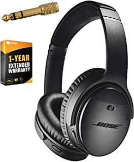 Bose QuietComfort 35 (Series II) Wireless Headphones, Noise Cancelling, Alexa voice control - Black + 1 Year Extended Warranty + Deco Gear 6.35mm to 3.5mm Adaptor - Value Bundle