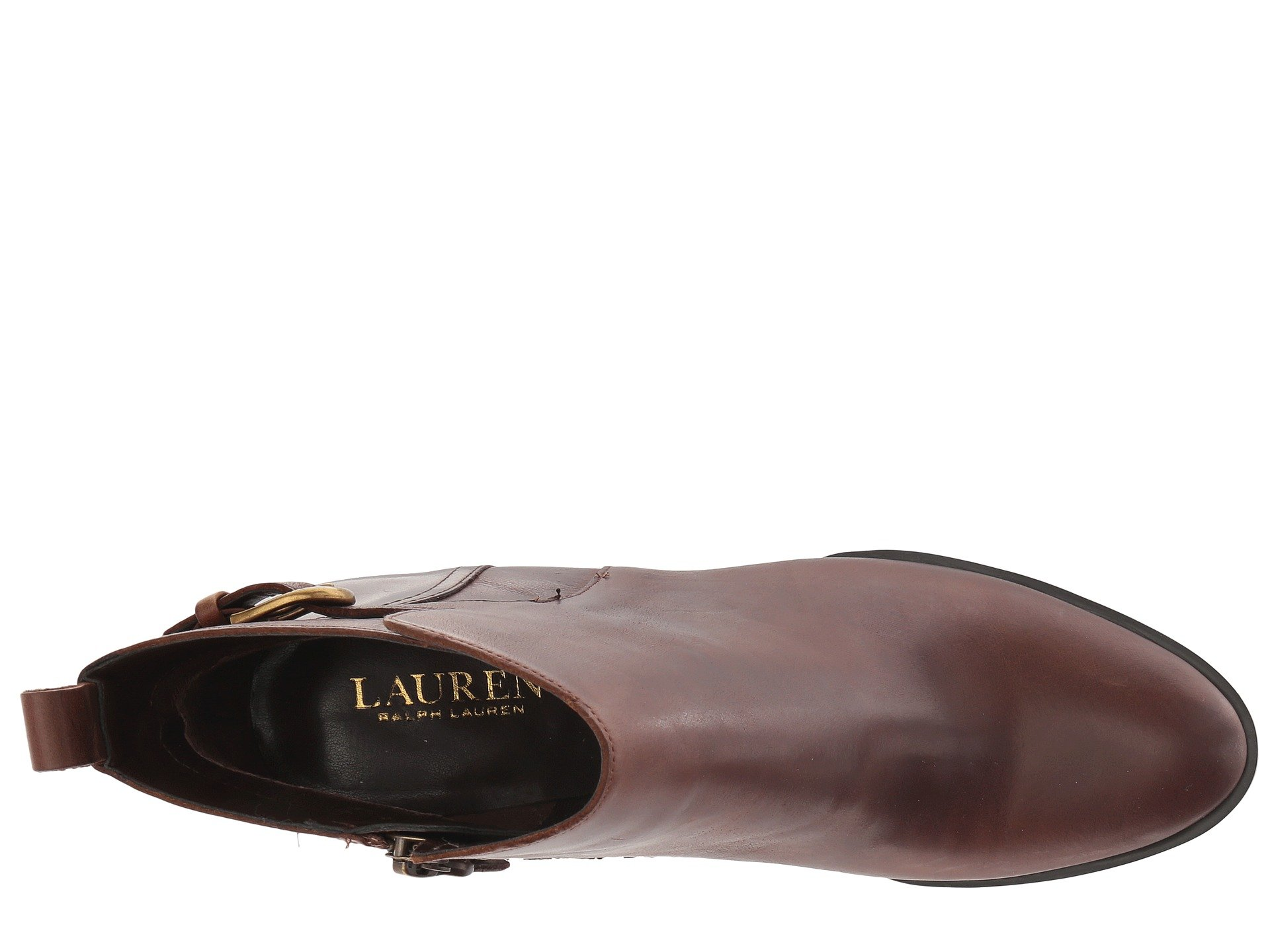 Smooth Ginelle Leather Lauren Ralph Tan Oil TzKwptBaxq