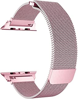 Milanese Loop Stainless Steel with Magnetic Clasp Bands for Apple Watch 38mm/40mm - Rose Gold - 2724771751333