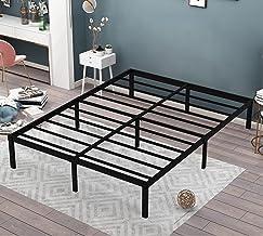 إطار سرير معدني من أومينايت ، كامل ، 35.56 سم ارتفاع ، منصة معدنية غير قابلة للانزلاق وخالية من الضوضاء، إطارات سرير معدني...