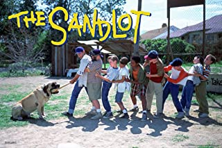 Pyramid America The Sandlot Movie Tug of War Dog One Sheet Baseball Bat Sports Film Classic Cool Wall Decor Art Print Poster 12x18