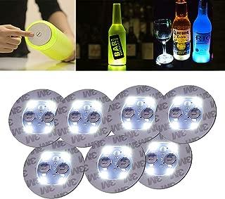 LED Coaster,Light Up Coasters,LED Bottle Lights,Bottle Glorifier,LED Sticker Coaster Discs Light Up for Drinks,Flash Light Up Cup Coaster Flashing Shots Light 7 Packs