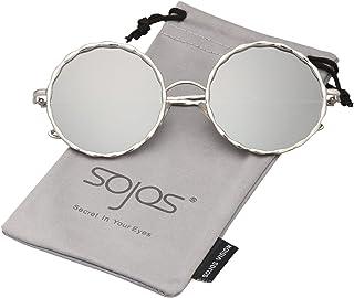 c5a24792c5 SOJOS Gafas De Sol Para Mujer Marco Redondo Metal Trenzado SJ1090