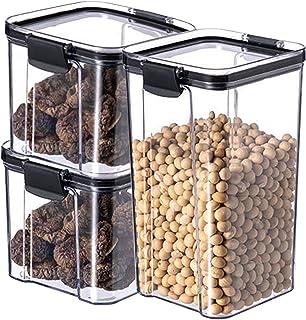 3 pièces étanche à l'humidité empilable boîte de rangement des aliments étanche à l'air ensemble de conteneurs cuisine gar...
