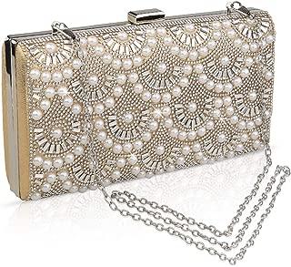 VEYIINA NERO Fashion Party Evening Handbags Pearl Clutch Purses For Women & Girls