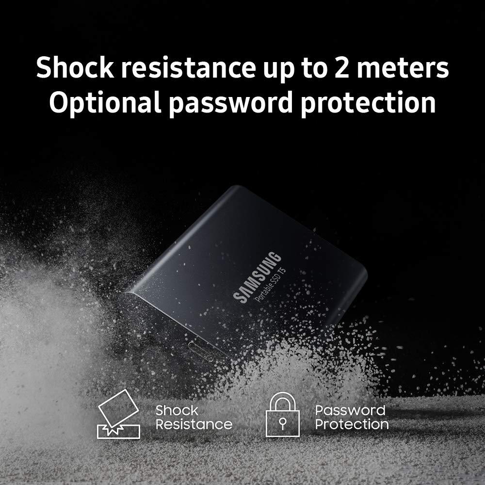 SAMSUNG T5 Portable SSD 1TB - Up to 540MB/s - USB 3.1 External Solid State Drive, Black (MU-PA1T0B/AM)