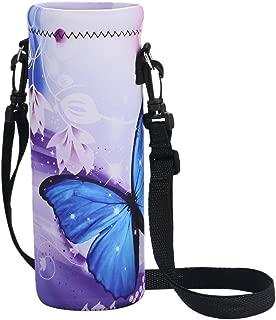AUPET Water Bottle Carrier,Insulated Neoprene Water Bottle Holder Bag Pouch Cover 500ML Adjustable Shoulder Strap, Great for Stainless Steel, Plastic Bottles, Sport, Energy Drinks