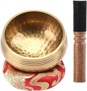 EKKONG Original Tibetische Klangschale, Handgefertigte Klangschale, Klangschalen Set mit..