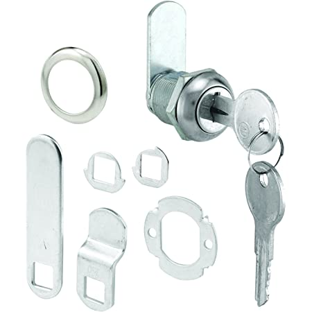 """Defender Security Stainless Steel, U 9941 (Keyed Different) Cabinet Lock – Secure Important Files and Drawers, 5/8"""", Diecast, Fits on 5/16"""" Max Panel Thickness"""