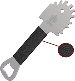Cave Tools Grill Scraper Tool - Bristle Free Safe BBQ Cleaner Fits Any Grilling Grate or Griddle - Stainless Steel Heavy D...