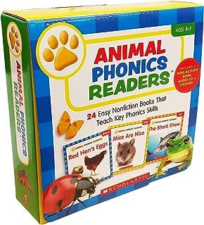 スカラスティック Animal Phonics Readers 英語教材 24冊セット アクティビティブック ・ CD付