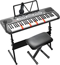 LAGRIMA LAG-760 61 Key Electric Keyboard Piano with Z Stand,