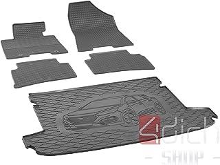 Passgenaue Kofferraumwanne und Gummifußmatten geeignet für Hyundai Tucson ab 2015 + Autoschoner MONTEUR