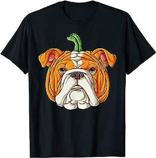 English Bulldog Pumpkin T shirt Halloween Kids Thanksgiving