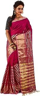 SareesofBengal Women's Handloom Jamdani Cotton Tangail Bengal Tant Saree
