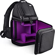 Qipi Camera Bag – Sling Bag Style Camera Case Backpack with Modular Inserts &..