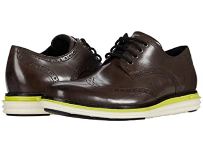 Cole Haan Original Grand Wing Ox Luxury (Quiet Shade Leather/Sulphur Spring/Ivory) Men