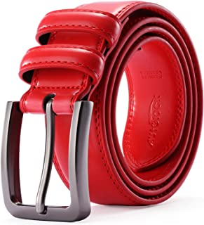 Mens Belt - Autolock Genuine Leather Dress Belt - Classic Casual Belt for Men in Gift Box