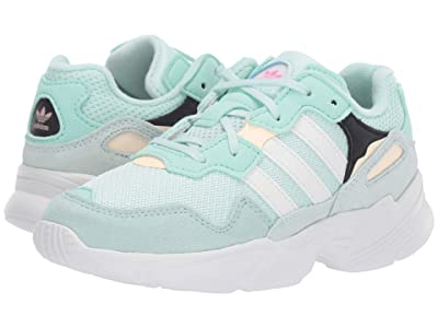 adidas Originals Kids Yung-96 C (Little Kid) (Ice Mint/White/Clear Orange) Kids Shoes