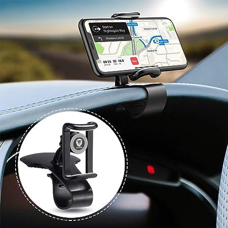 JunDa スマホ車載ホルダー クリップ式 カーマウント HUDシミュレーション設計 スマホスタンド 着脱簡単 ダッシュボード・デスクにも適用 【12ヶ月安心保障】