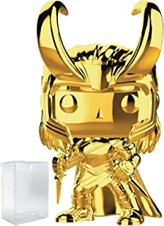 Marvel Studios 10th Anniversary - Loki (Gold Chrome) Funko Pop! Vinyl Figure (Includes Compatible Pop Box Protector Case)