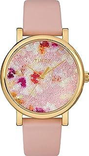 Timex Women's Crystal Bloom Swarovski Fabric Dial 38mm Watch