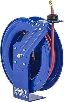 35 hose less hose Coxreels ENL-N-135 Spring Rewind Enclosed Hose Reel for air//water: 1//4 I.D. 300 PSI 35/' hose