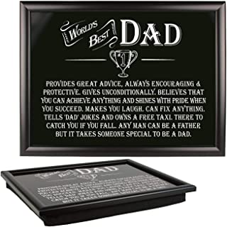 Arora The Ultimate Gift For Man 8819 Best Dad Lap Tray, Multicolour, One Size