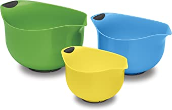 Cuisinart Set of 3 BPA-free Mixing Bowls, Multicolored