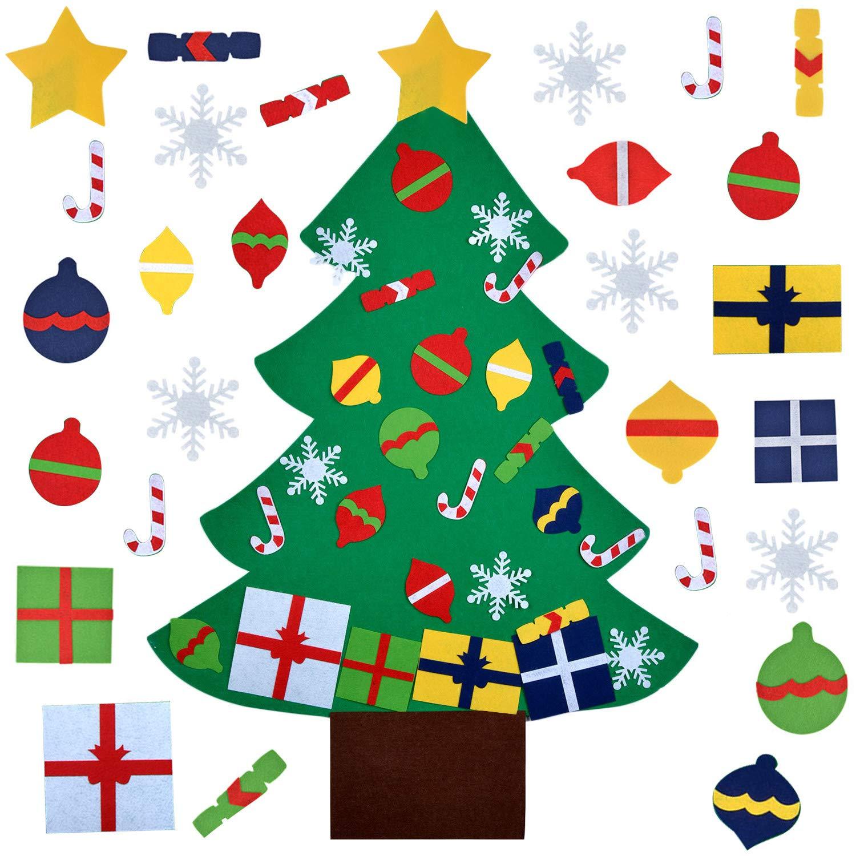 Felt Christmas Tree Fanspack DIY Christmas Tree Felt Decorations Christmas Xmas Tree Hanging Ornaments Xmas Party Home Decor Kids DIY Xmas Gifts