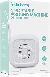 2-in-1 Portable Sound Machine + Nightlight by Frida Baby White Noise Machine with Soothing Sounds for Stroller or Car Seat...