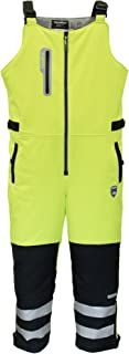 Men's Insulated Hivis Extreme Softshell Bib Overalls - ANSI Class E High Visibility Lime with Reflective Tape