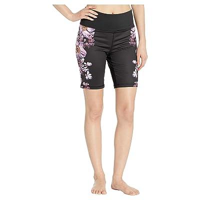 Bebe Sport Bloom Biker Shorts (Vibrant Blooms Print) Women