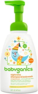 Babyganics Baby Shampoo + Body Wash Pump Bottle, Orange Blossom, 16oz,  , Packaging May Vary