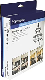 Westinghouse Lighting 0101100 Recessed Light Converter, 1, Finished White