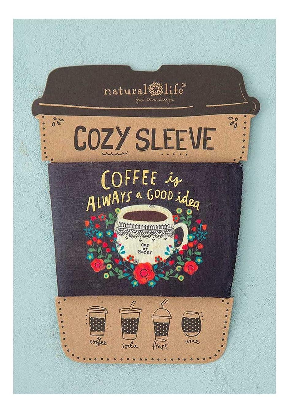 Natural Life Coffee Tea Soda Frap Cup lowball Wine Glass Cozy Sleeve (Coffee is A Good Idea)