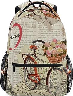 GUKISALA リュックサック、抽象的なシームレスなファッションパターンティーンエイジャーの要素、バックパック 男女兼用 アウトドア旅行バッグ オシャレ 可愛い 通勤 通学用 軽量 高校生