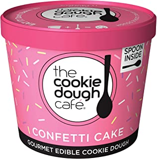 The Cookie Dough Cafe, Confetti Cake Flavor 3.5 oz (6 pack)