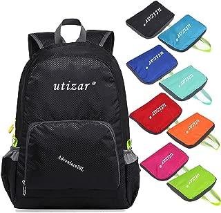 UTIZAR Lightweight Folding Backpack Gym Bag Foldable Day Backpack Outdoor Bag Travelling Backpack Camping Sports Backpack Shopping Ultra-Light Backpack Small Urban Backpack