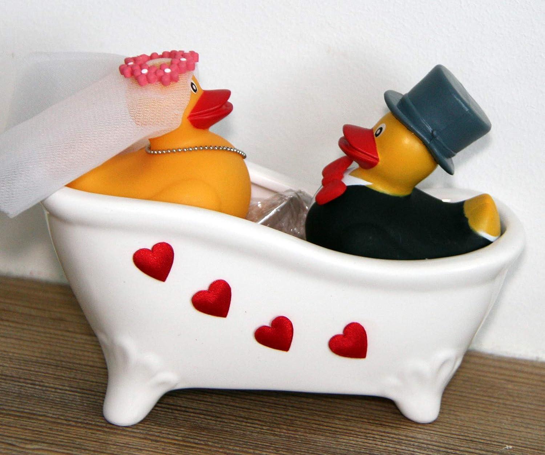 Badende Enten Frau /& Mann Generisch Geschenk Hochzeit
